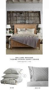 ballard designs ticking stripe duvet cover for 199 vs ikea nyponros duvet cover for 30