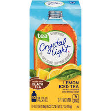 Does Crystal Light Raspberry Iced Tea Have Caffeine Crystal Light On The Go Natural Lemon Iced Tea Drink Mix