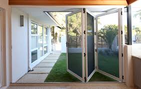 Plain Folding Patio Doors With Screens Bifold For Clearview Security On Concept Design