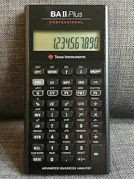 Financial Calculator Texas Instruments Ti Ba Ii Plus Professional Financial