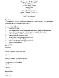 Carpenter Resume Templates Resume Sample 74