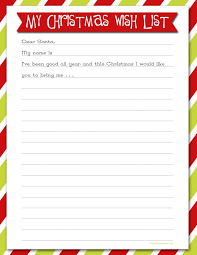 Cute Christmas Wish List Template Free Printable World Of Example