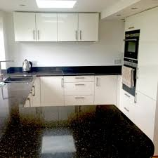 White Galaxy Granite Kitchen Contemporary Star Galaxy Black Granite Kitchen Worktops With