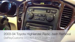 youtube com Toyota Stereo Wiring how to remove toyota highlander radio diy stereo dash 2003 2004