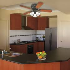 good looking ceiling fans for low ceilings and black kitchen countertop with brown wooden kitchen island