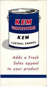 Details About Vintage Kem Professional Lustral Enamel Paint Brochure Sherwin Williams Meau23