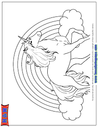Printable Unicorn Rainbow Coloring Pages