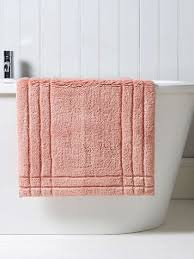 christy pink rectangular cotton bath rug