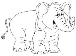 Cartoon Elephant Coloring Pages Printable Coloring Pages For