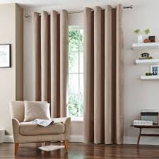 Lined Bedroom Curtains Natural Vermont Lined Eyelet Curtains Dunelm For The Home