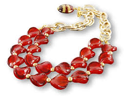 custom made jewelry murano necklace with red gl beads