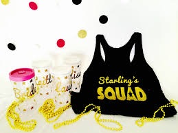 now you have customized shirts for your special occasion and what bachelorette party isn t complete without a group of girls running around in matching