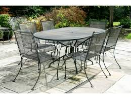 wrought iron outdoor oval table 6