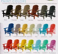 paint colors for adirondack chairs