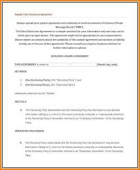 Non-Disclosure-Agreement-Sample-102Non Disclosure Of Confidential ...