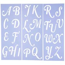 mayfair uppercase alphabet stencils