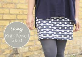 Knit Skirt Pattern Adorable Easy Knit Pencil Skirt Tutorial