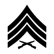 Usmc E 5 Sergeant Insignia Vinyl Decal Sticker Sgt Marines Corps Free Shipping