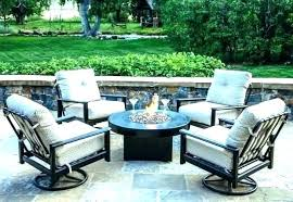 patio furniture and fire pit table set fireplace image of with acadia 6 person sling dining wit