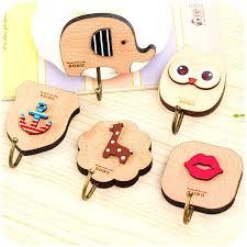 cute wall hooks multipurpose creative cute cartoon wooden wall hooks self adhesive wall door hook clothing cute wall hooks