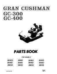 parts manuals vintage golf cart parts inc 1967 Minute Miser Cushman Wiring Diagram pu33 040 parts manual, gc300 gc400 Cushman Minute Miser Repair Manual