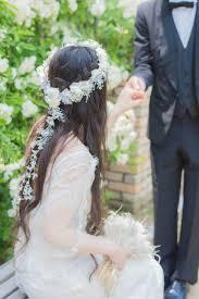 花冠ダウンヘアの可愛いブライダルヘア髪型特集 Marryマリー