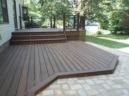 composite deck ideas. Fine Composite Ground Level Composite Decking In Deck Ideas O