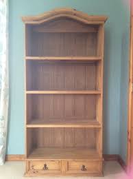 mexican pine tall bookcase