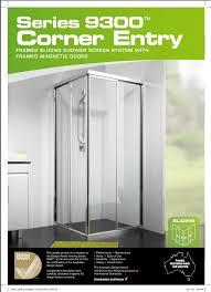 framed sliding shower doors. Series 9300™ · Corner Entry Framed Sliding Shower Doors