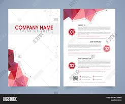 front and back page presentation of a professional flyer template front and back page presentation of a professional flyer template or brochure for corporate sector