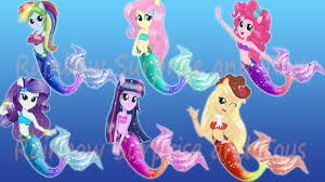 Small Picture MY LITTLE PONY Equestria Girls Transforms Mane 6 into MERMAIDS MLP
