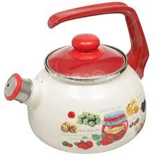 <b>Чайник эмалированный Metrot</b> 150313 Варенье со свистком, 2.5 ...