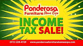 Truck Load Sale Going Now at Ponderosa Furniture Home Expo