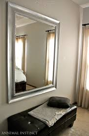 Silver Mirrors For Bedroom Diy Paint Job Black Mirror Frame Painted Silver Topped With Rub