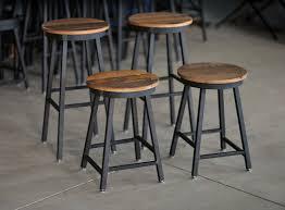 diy metal furniture. Buy Handmade Reclaimed Barnboard Oak Custom Raw Steel Bar Stools With Regard To Metal Furniture Diy ?
