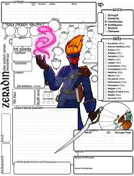 dungeons and dragons character sheet online custom character sheet commission 5e zeradin by basiliskonline