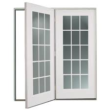 hinged patio door with screen. ReliaBilt® 6\u0027 ReliaBilt Center Hinged Patio Door Steel 15-Lite Insulated Glass White With Screen R