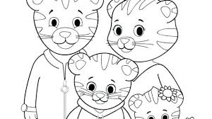 Daniel Tiger Halloween Coloring Pages Tiger Coloring Page Ti