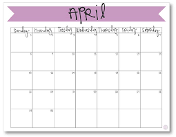 mothly calendar april 2018 calendar free printable live craft eat