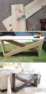 easy diy sofa table. 20 Easy DIY Console Table And Sofa Ideas Hative Within Diy Plan 3 Easy Diy Sofa Table G