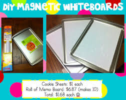 How To Make A Magnetic Memo Board DIY magnetic whiteboards made from contact paper and cookie sheets 83