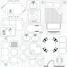furniture floor plans. floor furniture planner icons simple plan outline royalty free cliparts plans e