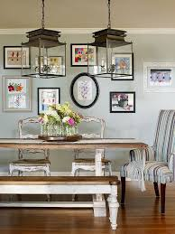country style dining rooms. Beautiful Gallery Wall Brings Color To The Relaxed Dining Room [Design: Verge Painting \u0026 Country Style Rooms
