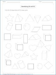 3d shapes worksheets for grade 1