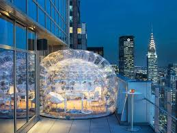 Soon you can drink in a bubble on the highest rooftop bar in Times Square