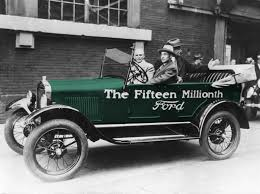 first ford model t. the fifteen millionth ford model t first w