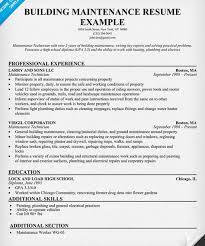 Building Maintenance Resume Sample - http://getresumetemplate.info/3452/ building