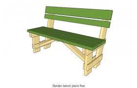 garden bench free woodworking plan com