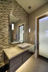 custom bathroom lighting. Fine Custom Bathroom With Floating Cabinets Undercabinet Lighting And Glass Tile   Adam Wilson Inside Custom Lighting O