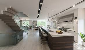 floor track lighting. contemporary great rooms kitchen with recessed track lighting stainless hood light wood floor
